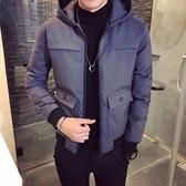 夾克外套-連帽時尚後背背影印花夾棉男外套3色73qa3【時尚巴黎】