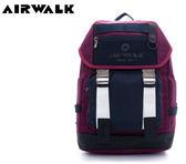 【橘子包包館】AIRWALK 黑與白 韓式金屬插扣翻蓋筆電後背包 A635322340 紅色