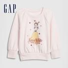 Gap女幼童 迪士尼公主系列圓領休閒上衣 614927-淡粉色