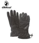 丹大戶外用品【Wildland】荒野 中性PR棉防水防風觸控手套 型號 W2006-93 深灰色