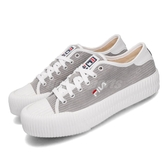 Fila 休閒鞋 C910T 灰 白 女鞋 運動鞋 低筒 餅乾鞋 【PUMP306】 5C910T411