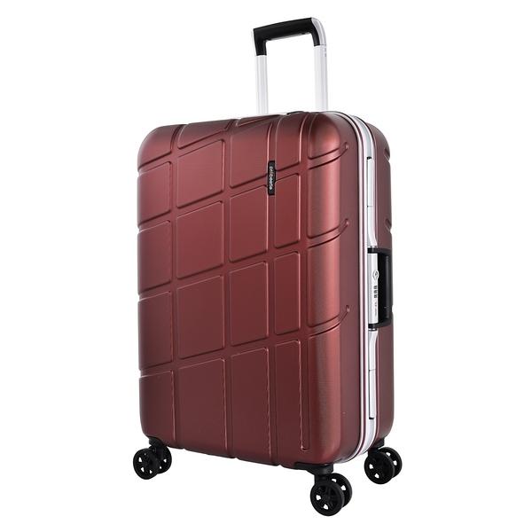 萬國 PROBEETLE 28吋幾何變奏曲 霧面鋁框 德國拜耳PC材質 行李箱/旅行箱-(紅) 9P3