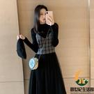 針織連身裙女秋冬長款內搭毛衣裙子兩件套裝...