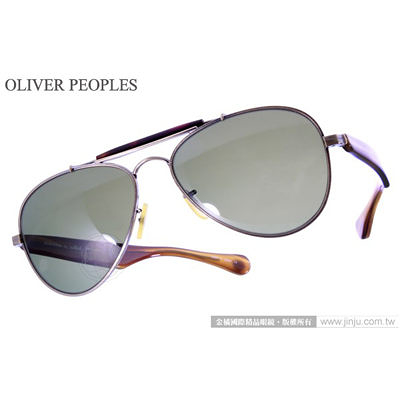 OLIVER PEOPLES 太陽眼鏡 OP TEARDROP 5039 (墨綠棕) 廣告款 墨鏡 # 金橘眼鏡