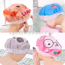 新款超萌可愛卡通洗澡浴帽 防水泡湯溫泉沐浴帽 洗頭帽 包頭巾