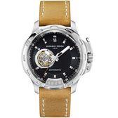 Giorgio Fedon 1919 TIMELESS IV系列開芯機械腕錶 GFBG013 黑面x淺褐皮