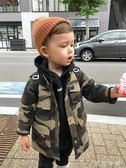 風衣 童裝帥寶寶潮童裝男童迷彩風衣外套兒童中長款風衣 伊鞋本鋪