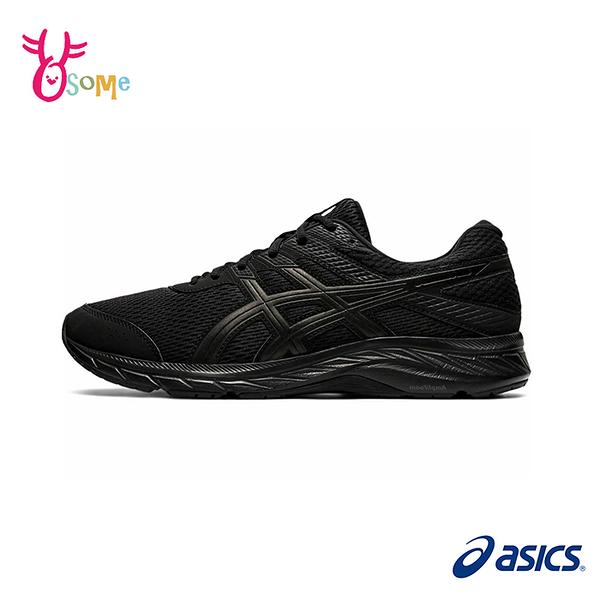 ASICS亞瑟士 GEL-CONTEND 6 (4E)寬楦 成人男款運動慢跑鞋 B9109#黑色◆OSOME奧森鞋業