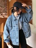 網紅牛仔外套女秋季2019新款韓版復古百搭bf寬鬆顯瘦長袖夾克上衣 喵小姐