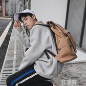 後背包 韓版男士背包休閒雙肩包男時尚帆布男包旅行包電腦包潮流學生書包 3C優購