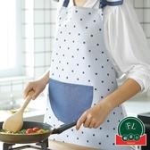 布藝無袖圍裙家用廚房做飯圍裙背心半身圍裙【福喜行】