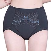 思薇爾-美波曲線系列M-XXL蕾絲高腰三角飾體褲(墨綠灰)