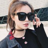 復古墨鏡女原宿風韓版太陽鏡潮2019新款超大框偏光鏡圓臉個性眼鏡