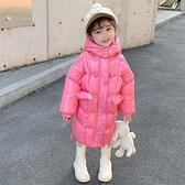 兒童棉服女 女童棉衣中長款加厚2021新款冬裝兒童冬季棉襖女洋氣羽絨棉服【快速出貨八折搶購】