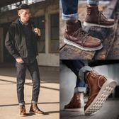 休閒鞋 潮冬季中幫短靴高幫工裝靴雪地男鞋加絨棉鞋英倫靴子