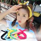 【R】韓糖果色 馬卡龍 兔耳朵 鐵絲 髮帶 髮箍 甜美氣質 純色 頭帶 頭箍 韓頭飾髮飾