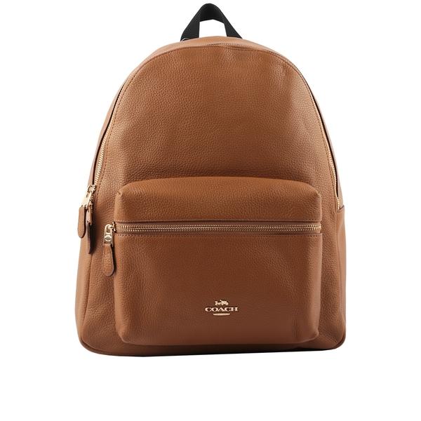 【COACH】皮革口袋後背包(大款)(駝色) F29004 IMLQD