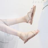 涼鞋女夏平底學生簡約新款韓版百搭網紅溫柔仙女風晚晚鞋 伊鞋本鋪
