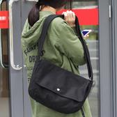 帆布單肩包-簡約百搭復古純色女側背包2色73wo33【巴黎精品】