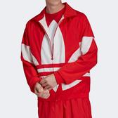 J- adidas TREFOIL TRACK JACKET 男女 外套 休閒 立領 口袋 彈性 紅白 雙面 大LOGO 三葉草 FM9891