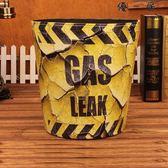 歐式家用皮革大垃圾桶復古客廳臥室垃圾筒無蓋