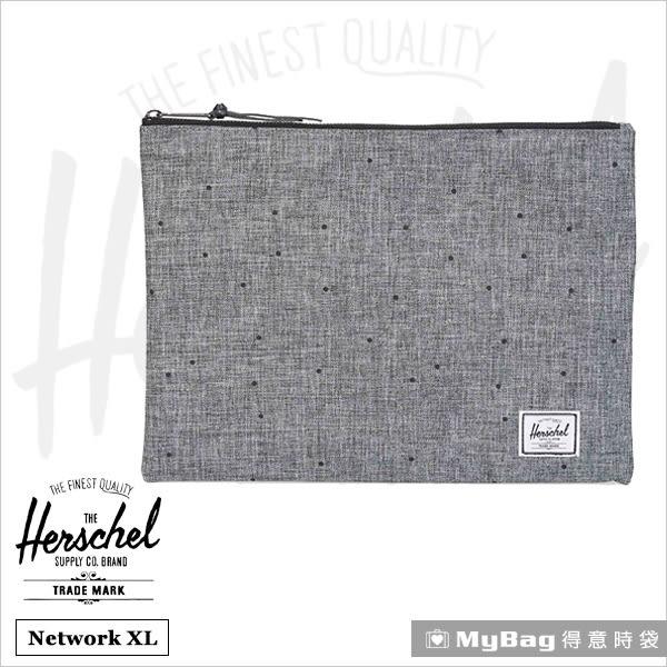 Herschel  時尚手拿包  Network XL-1160  灰色點點  萬用夾 / 手拿包  MyBag得意時袋