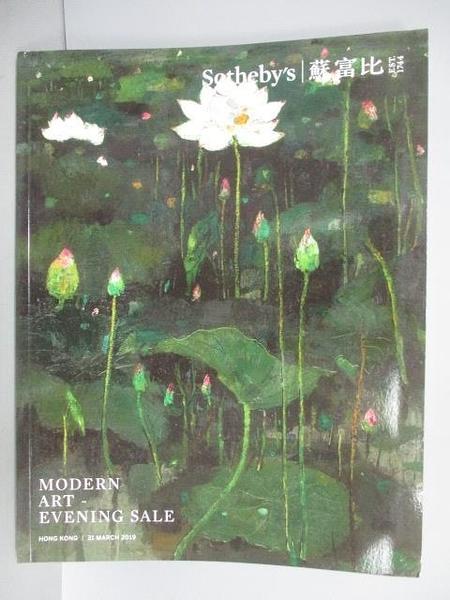 【書寶二手書T5/收藏_FOB】蘇富比_Modern Art-Evening Sale_2019/3/31