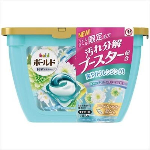 【日本製】【P&G】Bold 洗衣凝膠球3D立體 膠囊 洗衣精 本體 17顆入 桂花清香 SD-2654 - P&G
