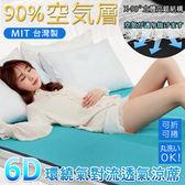 涼蓆 / 台灣製【6D環繞氣對流透氣涼蓆】雙人加大(180x186cm) 床墊/涼墊/和室墊/露營可用-沐眠家居