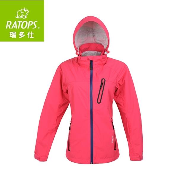 【瑞多仕 RATOPS 女 2.5layer防水透濕夾克《櫻紅色》】RAW-105/保暖外套/風衣/旅遊