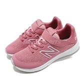 New Balance 慢跑鞋 Premus Wide 寬楦 粉紅 白 童鞋 中童鞋 女鞋 魔鬼氈 運動鞋【ACS】 YOPREMRSW