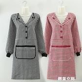 新款翻領圍裙女時尚廚房家用做飯上班工作服可愛日系純棉韓版罩衣 創意新品