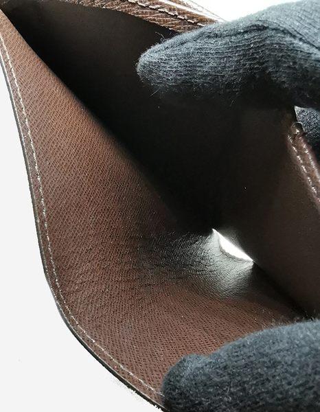 【雪曼國際精品】LV【N61674】經典Damier扣式多功能中夾~二手商品(8.5成新)