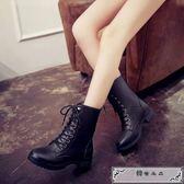 銀魂坂田銀時cos靴子 銀桑鞋 神威高筒萬用馬丁靴神樂男女黑色靴