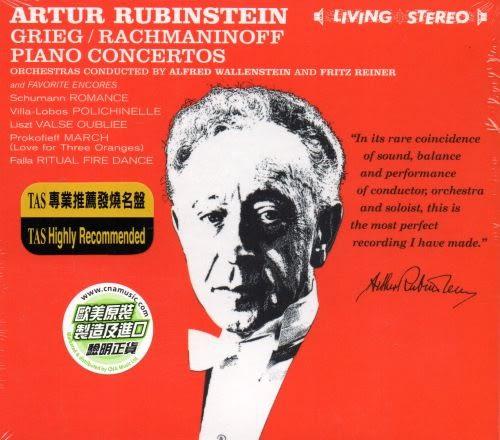 【停看聽音響唱片】【CD】ARTUR RUBINSTEIN:GRIEG.RACHMANINOFF and Favorite Encores