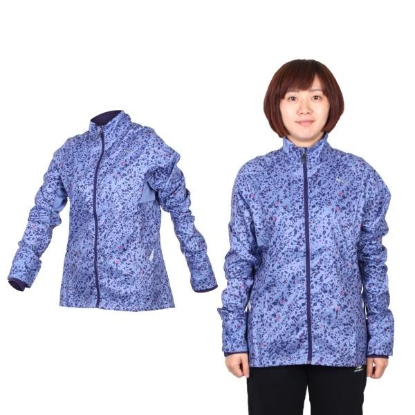 PUMA 女滿版印花立領風衣外套(保暖 免運 慢跑 路跑 防風≡排汗專家≡