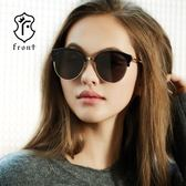 【Front 太陽眼鏡】Heart free-五色可挑選#時尚造型復古眉框太陽眼鏡/墨鏡
