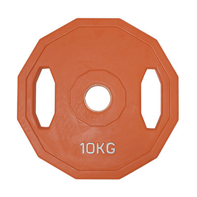 TPOWER 奧林匹克標準槓片10KG《環保無味》包膠大孔徑設計-單片入
