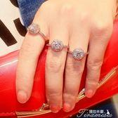 韓版鑲鋯石戒指歐美夸張水鑽圓形食指指環時尚百搭裝配飾品個性女聖誕節下殺