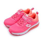 LIKA夢 LOTTO 專業KPU氣墊慢跑鞋 鳳凰展翼系列 粉紅桔 5303 大童