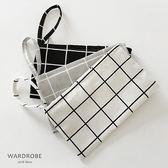 帆布格子手機零錢鑰匙包 / 衣櫃控-WardrobE / CW046