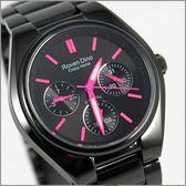 【萬年鐘錶】 Roven Dino 羅梵迪諾 楊丞琳代言 全黑紅字時尚錶 RD9803LB