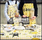 波普可愛系列情侶無袖布藝家居廚房烘焙圍裙做飯男女圍腰廚師罩衣LG-881920