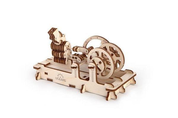 Ugears 氣動引擎 Pneumatic Engine 齒輪 機械結構 自動機模型 烏克蘭精品 工業革命