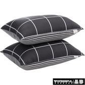 枕頭簡約枕頭單人單只學生宿舍男女家用枕芯防螨雙人一對裝護頸椎整頭 免運