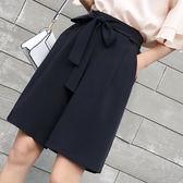 【雙12】全館大促新款百搭西裝褲女薄款系帶休閒短褲五分闊腿褲