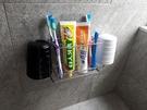 牙刷牙膏杯架 304不銹鋼 無痕掛勾 凹凸粗糙牆面可貼 浴室收納 台灣製造 熊好貼