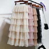 蛋糕裙子半身裙秋女高腰長裙蓬蓬紗裙—聖誕交換禮物
