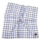 renoma拼色格紋男士純綿帕巾(藍白色)989063-246