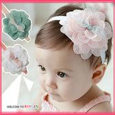 髮飾 嬰兒甜美蕾絲大花朵星星髮帶 頭飾